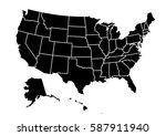 usa map vector illustration | Shutterstock .eps vector #587911940