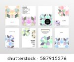 memphis geometric background... | Shutterstock .eps vector #587915276