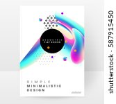memphis geometric background... | Shutterstock .eps vector #587915450