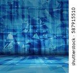 vector blue abstract interior   Shutterstock .eps vector #587915510