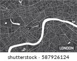 minimalistic london city map... | Shutterstock .eps vector #587926124