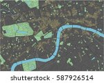 london vector map with dark... | Shutterstock .eps vector #587926514