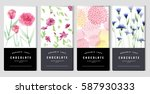 chocolate bar packaging mock up ... | Shutterstock .eps vector #587930333
