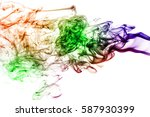 colored smoke isolated on white ... | Shutterstock . vector #587930399