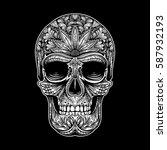 vector black and white tattoo...   Shutterstock .eps vector #587932193