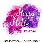 holi festival vector banner... | Shutterstock .eps vector #587934050