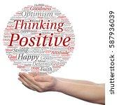 concept conceptual positive... | Shutterstock . vector #587936039