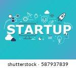 creative illustration of... | Shutterstock .eps vector #587937839