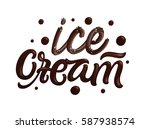 ice cream quote with... | Shutterstock .eps vector #587938574