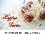 Small photo of Easter - Happy Easter text