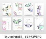 memphis geometric background...   Shutterstock .eps vector #587939840