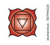 seven major chakras. muladhara...   Shutterstock .eps vector #587944220
