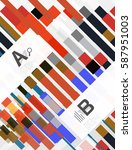 colorful stripes geometrical... | Shutterstock .eps vector #587951003