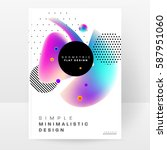 memphis geometric background... | Shutterstock .eps vector #587951060