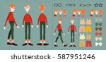 character animation  character... | Shutterstock .eps vector #587951246