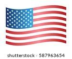 Wavy Flag Of America.