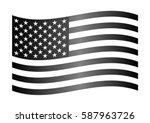 black and white wavy flag of... | Shutterstock .eps vector #587963726