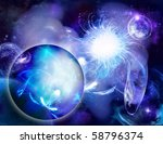 planets and mystic luminous... | Shutterstock . vector #58796374