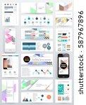memphis geometric background... | Shutterstock .eps vector #587967896