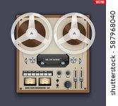 original vintage analog reel... | Shutterstock .eps vector #587968040