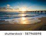 juno beach pier sunrise  florida | Shutterstock . vector #587968898