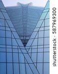 modern glass architecture... | Shutterstock . vector #587969300