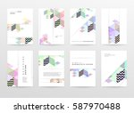 memphis geometric background... | Shutterstock .eps vector #587970488