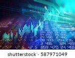 financial stock market graph on ... | Shutterstock . vector #587971049