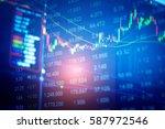 business graph background ... | Shutterstock . vector #587972546
