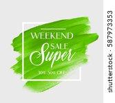 sale super weekend sign over... | Shutterstock .eps vector #587973353