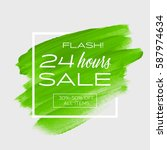 sale special offer '24 hours'... | Shutterstock .eps vector #587974634