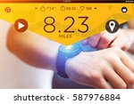 view of a running interface on... | Shutterstock . vector #587976884