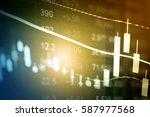 business graph background ... | Shutterstock . vector #587977568