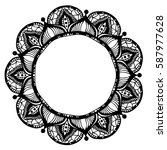 mandalas for coloring book.... | Shutterstock .eps vector #587977628