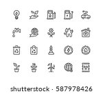 ecology icon set  outline style | Shutterstock .eps vector #587978426