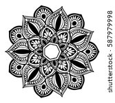 mandalas for coloring book.... | Shutterstock .eps vector #587979998