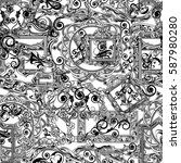 seamless orient good pattern is ... | Shutterstock . vector #587980280