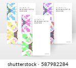 memphis geometric background... | Shutterstock .eps vector #587982284