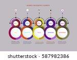 vector infographics timeline... | Shutterstock .eps vector #587982386