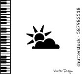 Web Icon. Sun And Clouds