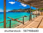 beautiful seascape in camp de... | Shutterstock . vector #587988680