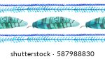 boho seamless pattern... | Shutterstock . vector #587988830