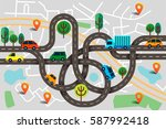 colorful vector illustration in ... | Shutterstock .eps vector #587992418