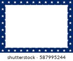 vector frame of white stars on... | Shutterstock .eps vector #587995244