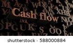 cash flow   wooden 3d rendered... | Shutterstock . vector #588000884