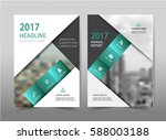 vector green annual report... | Shutterstock .eps vector #588003188