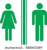 toilet man women green | Shutterstock .eps vector #588003389