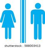 toilet man women cyan   Shutterstock .eps vector #588003413