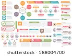 infographic elements   objects... | Shutterstock .eps vector #588004700