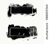 vector set of black brush... | Shutterstock .eps vector #588005564